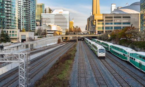 Go trains in Toronto